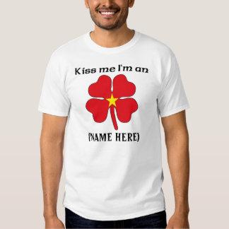 Personalized Kiss Me I'm Vietamese Tshirt