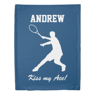 Personalized KISS MY ACE boys tennis duvet cover