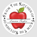 Personalized Kitchen Baking Stickers- Apple