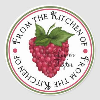 Personalized Kitchen Baking Stickers- raspberry