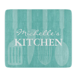 Personalized kitchen cooking utensils cutten board