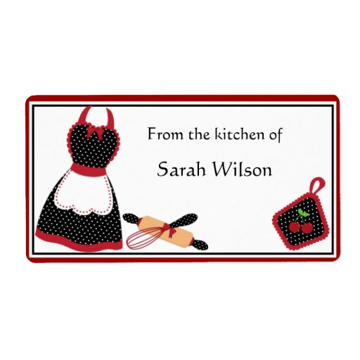 Personalized Kitchen Labels large size Shipping Labels
