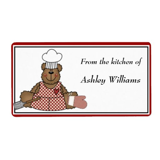 Personalized Kitchen Labels large size Personalized Shipping Labels