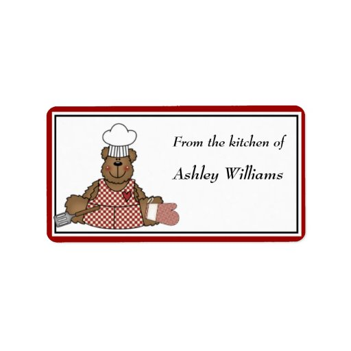 Personalized Kitchen Labels - medium size Custom Address Labels