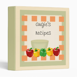 Personalized Kitchen Recipe Cookbook - Veggies Binder