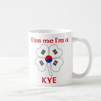 Personalized Korean Kiss Me I'm Kye Coffee Mugs
