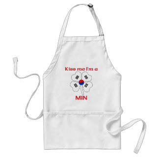 Personalized Korean Kiss Me I'm Min Aprons