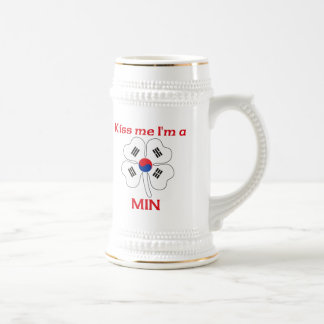 Personalized Korean Kiss Me I'm Min Mug
