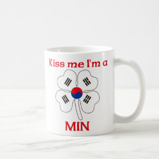 Personalized Korean Kiss Me I'm Min Coffee Mugs