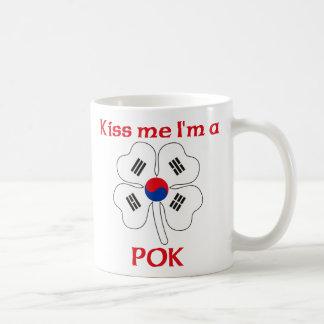 Personalized Korean Kiss Me I'm Pok Coffee Mugs
