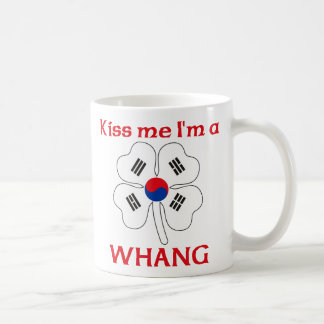 Personalized Korean Kiss Me I'm Whang Coffee Mugs