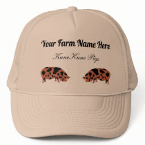 Personalized KuneKune Pig Trucker Hat