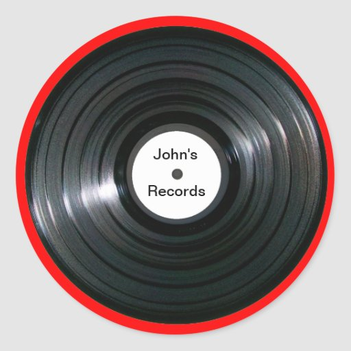 Personalized label lp record classic round sticker zazzle for Classic house record labels
