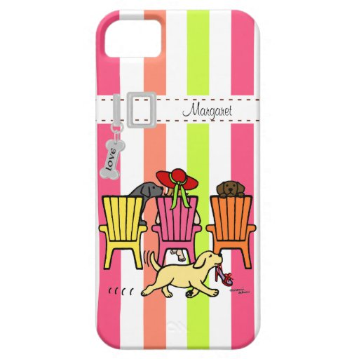 Personalized Labrador Mom at Poolside Case