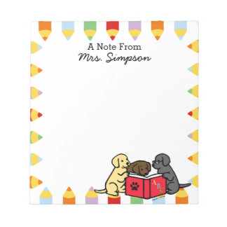 Personalized Labrador Puppies Reading Notepads