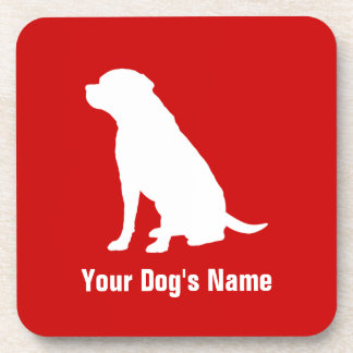 Personalized Labrador Retriever ラブラドール・レトリーバー Beverage Coaster