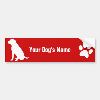 Personalized Labrador Retriever ラブラドール・レトリーバー Bumper Sticker