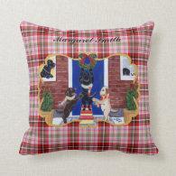 Personalized Labrador Retriever Christmas Fun Throw Pillows