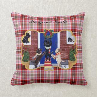 Personalized Labrador Retriever Christmas Fun Throw Pillow