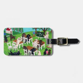 Personalized Labrador School Painting Luggage Tag