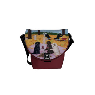 Personalized Labradors Autumn Fun Painting Courier Bag