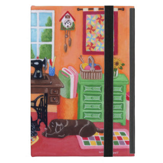 Personalized Labradors in Mom's Sewing Room iPad Mini Cover