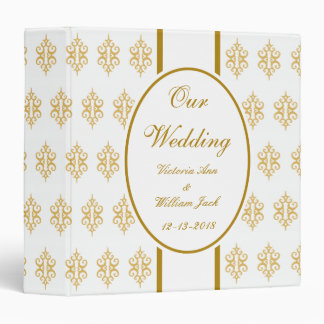 Personalized Lace Wedding Scrapbook Binder