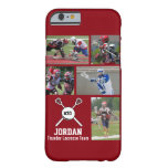 Personalized Lacrosse Photo Collage Name Number Barely There iPhone 6 Case