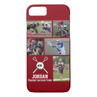 Personalized Lacrosse Photo Collage Name Number iPhone 7 Case