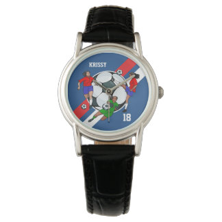 Personalized Ladies Soccer Designer Wrist Watch