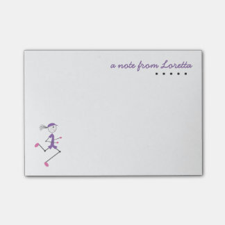 Personalized Lady Running Post-it® Notes