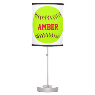 Personalized Lady Softball Lamp