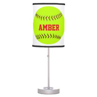 Personalized Lady Softball Lamp