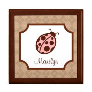Personalized Ladybug Box