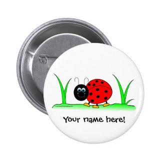 Personalized Ladybug Button