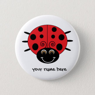 Personalized Ladybug Button