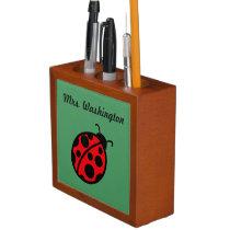 Personalized Ladybug Desk Organizer