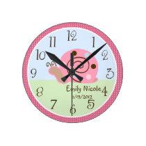 Personalized Ladybug Lullaby/Snail Nursery Clock