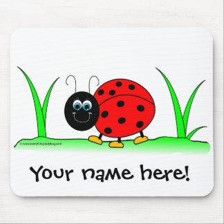 Personalized Ladybug Mousepad