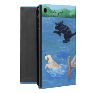 Personalized Lake Fun Labradors ipad mini case