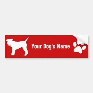 Personalized Lakeland Terrier レークランド・テリア Car Bumper Sticker