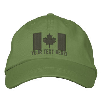 Personalized Large Canadian Flag Embroidery Embroidered Baseball Hat