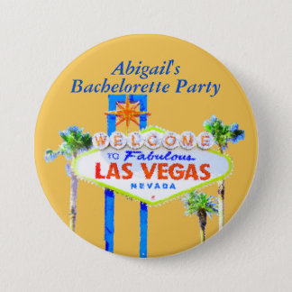Personalized Las Vegas Bachelorette Pinback Button