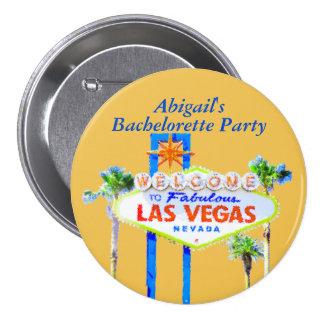 Personalized Las Vegas Bachelorette Pinback Button