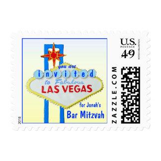 Personalized Las Vegas Bar Mitzvah Postage
