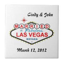 Personalized Las Vegas Married in Las Vegas Tile