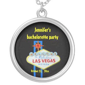 Personalized Las Vegas Round Pendant Necklace
