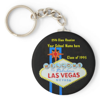 Personalized Las Vegas Sign Party Favor Keychain