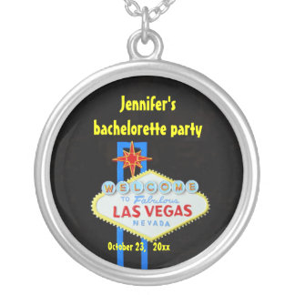 Personalized Las Vegas Silver Plated Necklace
