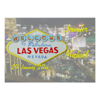 Personalized Las Vegas Special Event Poster